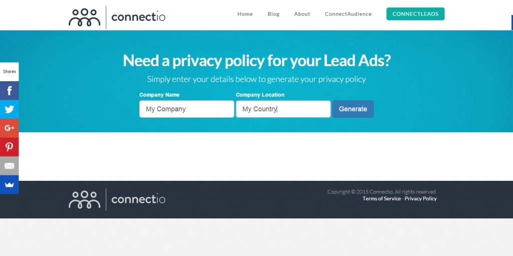 Free Privacy Policy Generator For Facebook Lead Ads
