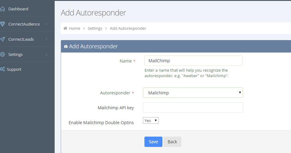 Add MailChimp AR