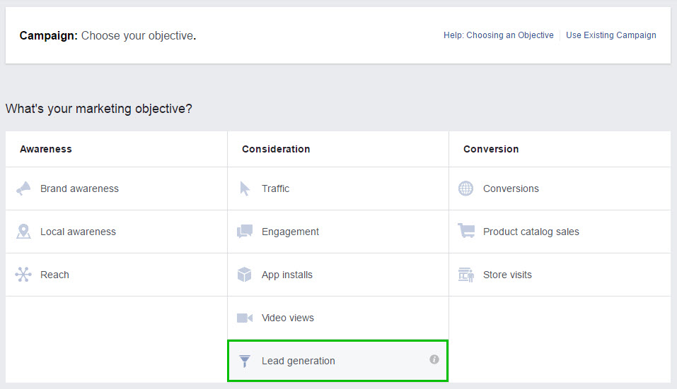 Image of Ad - Objective - Select Lead Generation