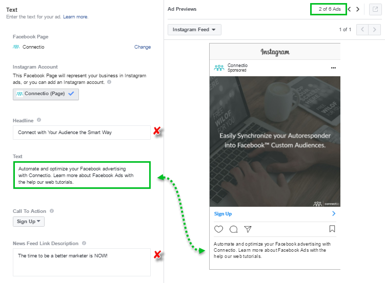 Image of Instagram Lead Ads - Text - Multiple Single Image Ads