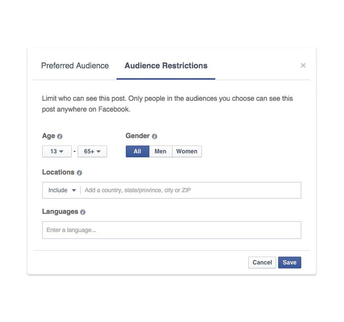 organic reach audience restriction