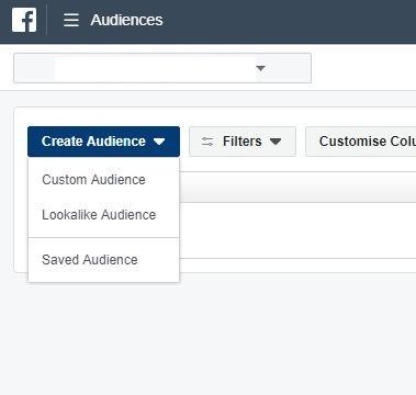 Facebook Custom Audience 1