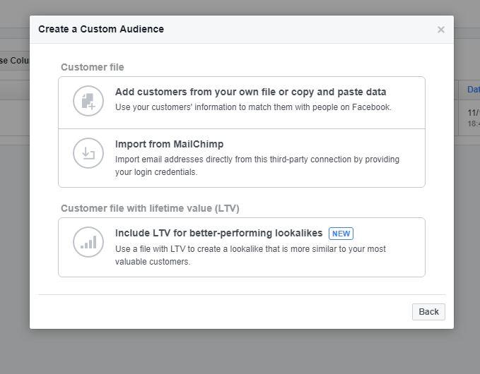 Facebook Custom Audience 3